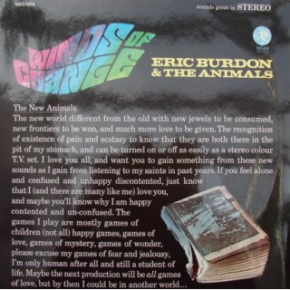 Eric Burdon & The Animals: Winds Of Change – 1967 – GERMANY.