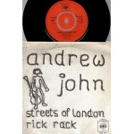 Andrew John: Streets Of London/Rick Rack – 1970 – DENMARK.
